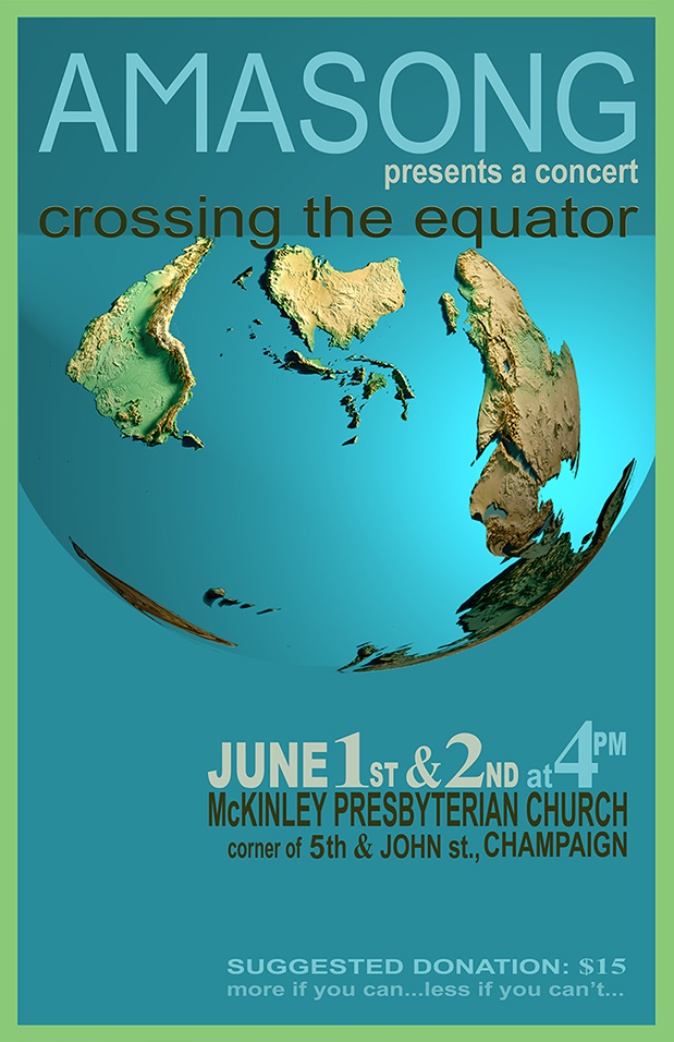 Crossing The Equator Flyer for Spring 2019 concert